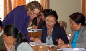 Sara teaching