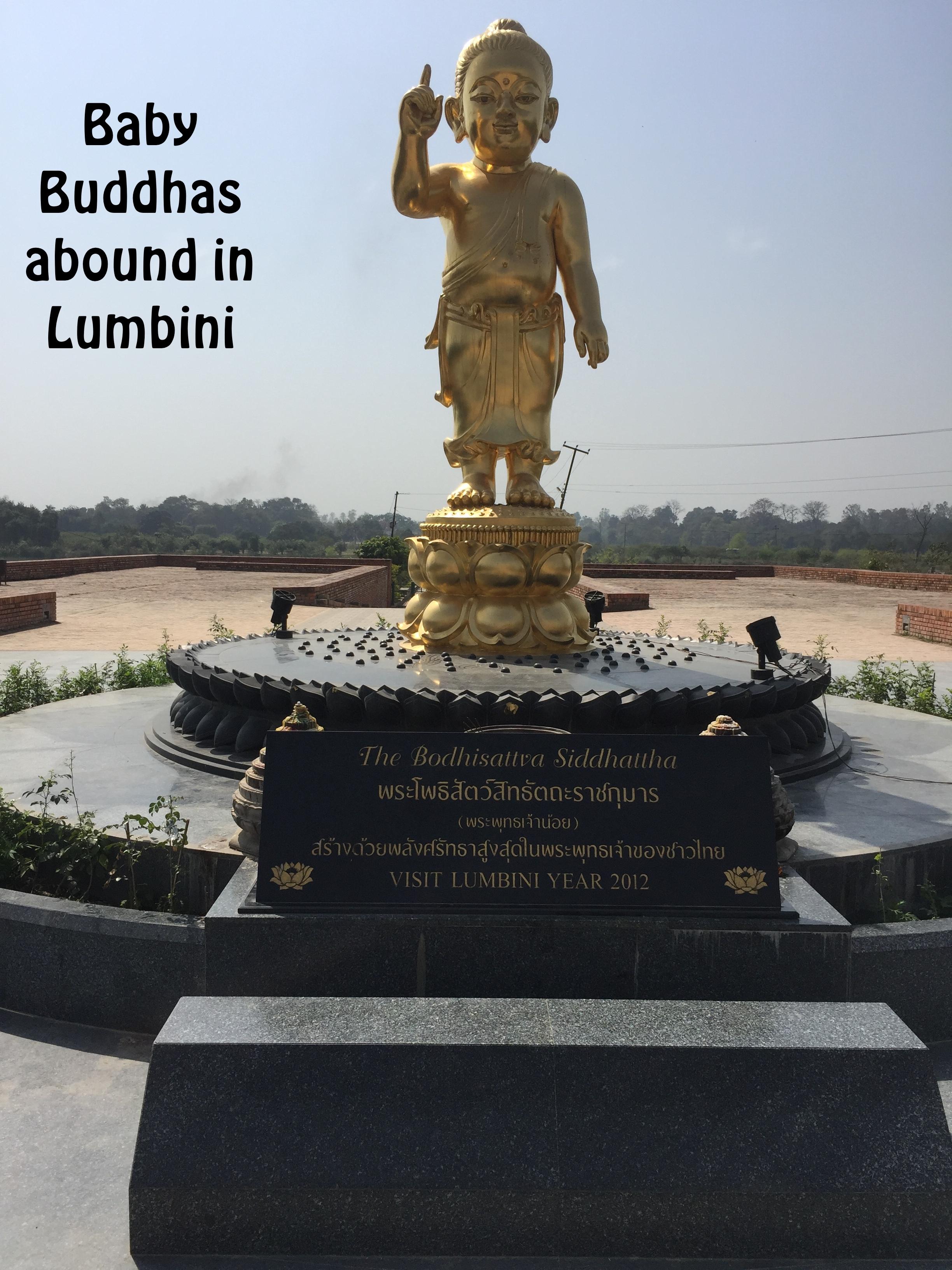 Baby Buddha in Lumbini