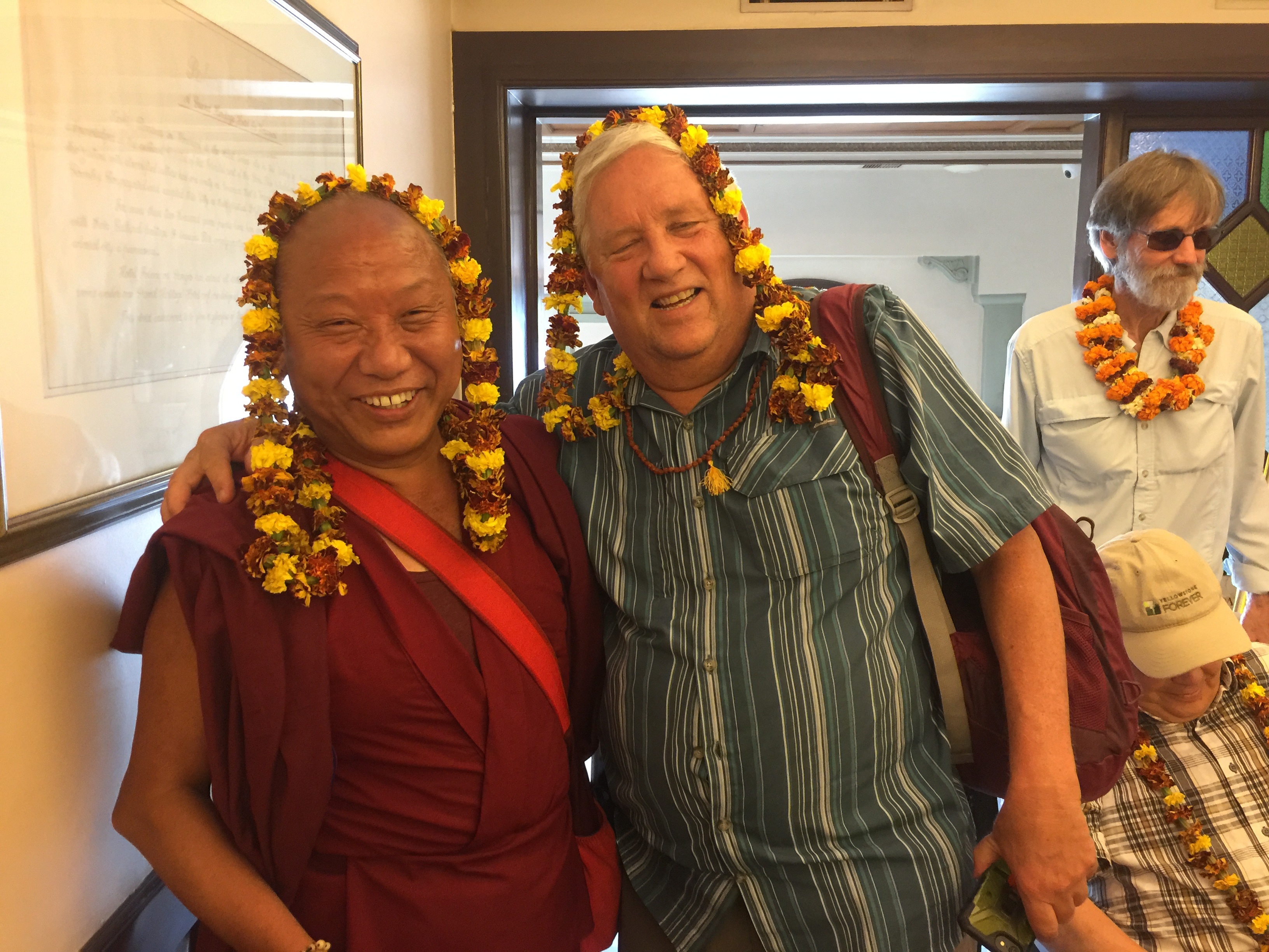 Great room mates Lama Paljor and Mark