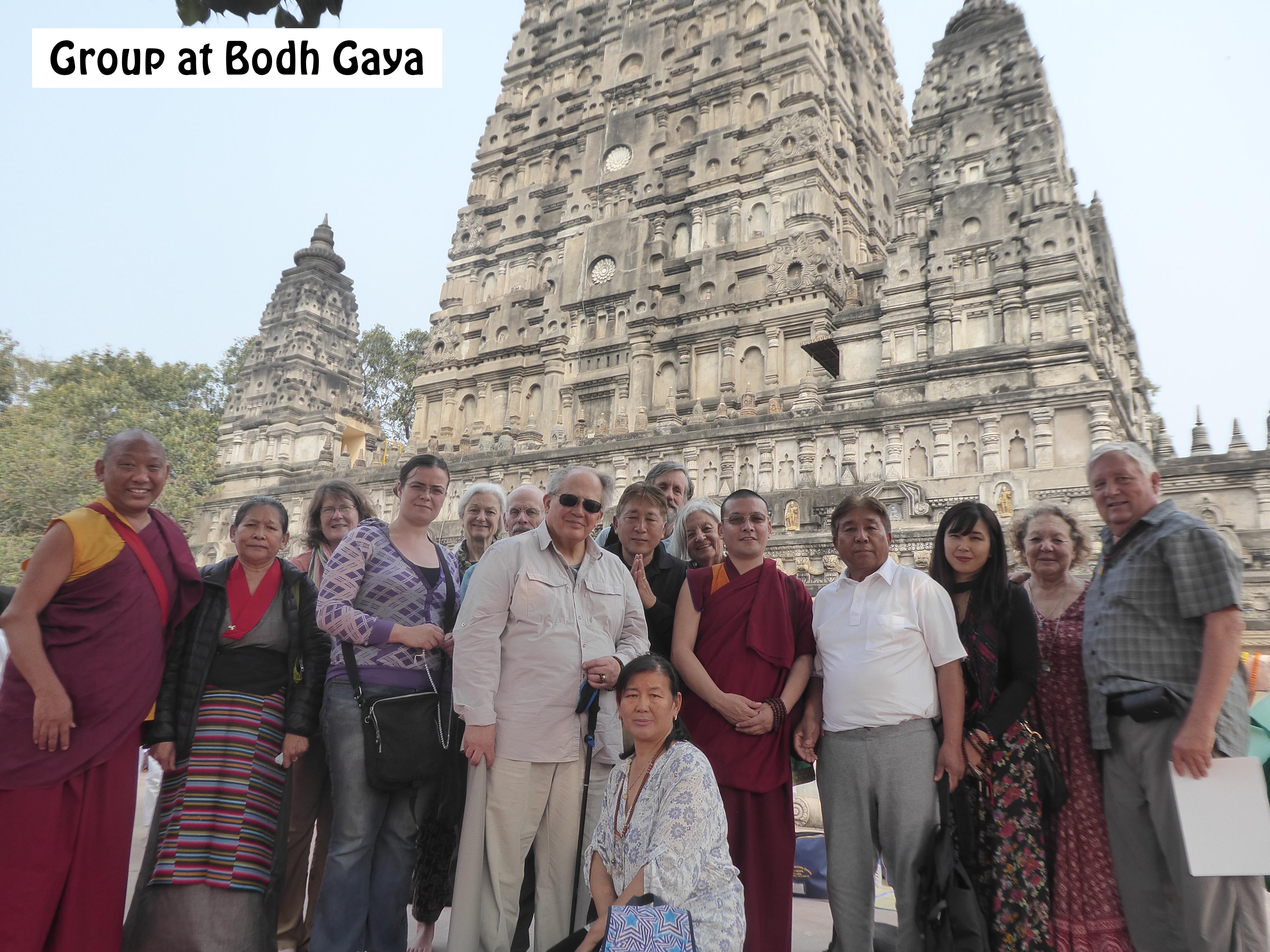 Group photo at Bodh Gaya